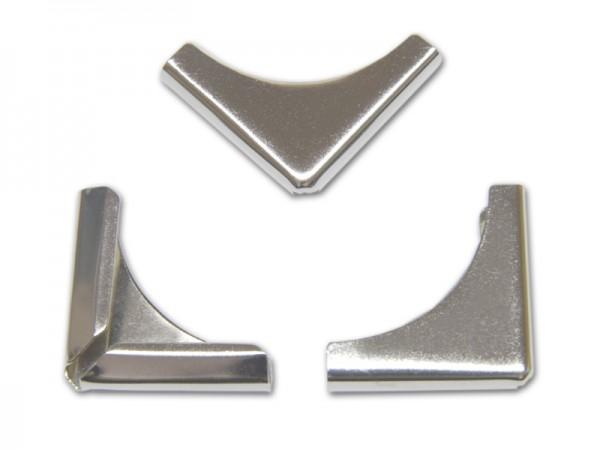 Buchecken, vernickelt, 28 x 28 mm, Fassung 4,3 mm