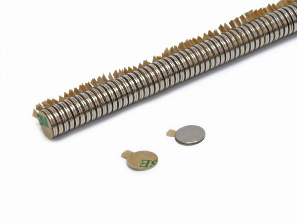 Magnete selbstklebend rund 9,5 x 0,75 mm