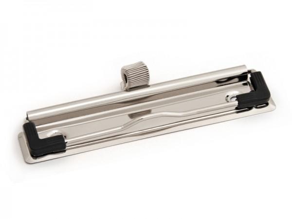Drahtbügelklemmmechanik 120 mm breit, mit Stifthalter + Gummiecken