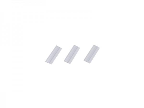 Klemmschiene selbstklebend, transparent, Füllhöhe bis 1 mm