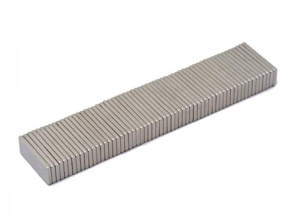 Magnetverschlussplatten 25 x 10 x 2 mm