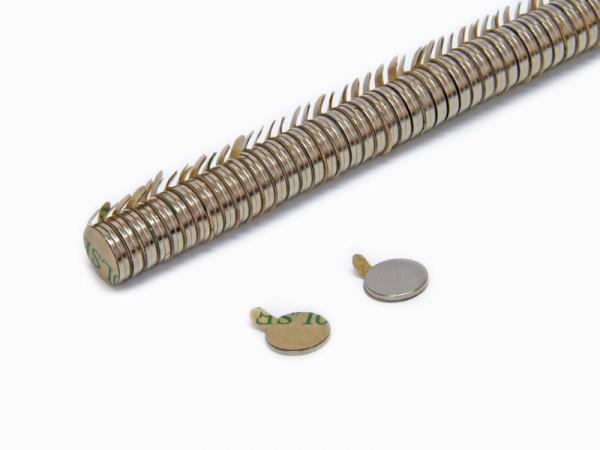 Magnete selbstklebend rund 10 x 1 mm