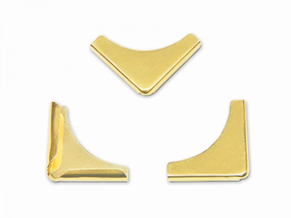 Buchecken, vermessingt, 21 x 21 mm, Fassung 3,5 mm