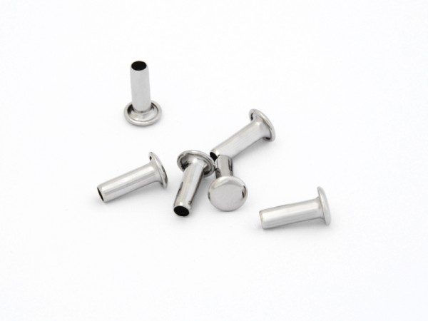 Maschinen-Hohlniete 1-teilig, 12 mm, vernickelt