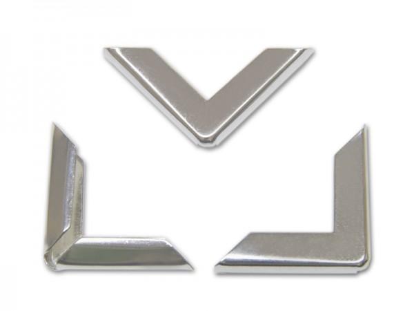 Buchecken, vernickelt, 30 x 30 mm, Fassung 4 mm