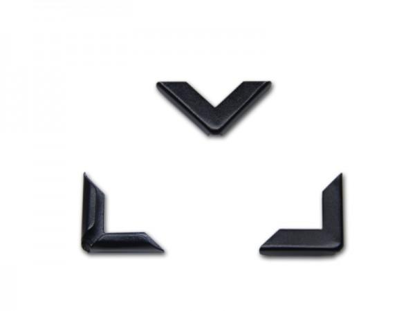 Buchecken, schwarz, 16 x 16 mm, Fassung 3,5 mm