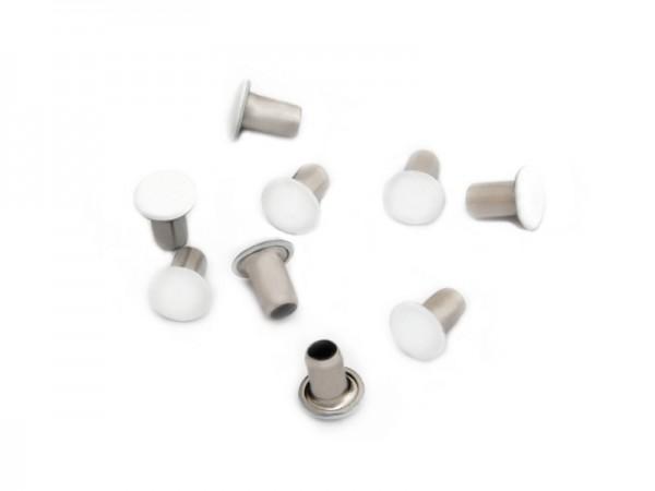 Maschinen-Hohlniete 1-teilig, 7 mm, weiß