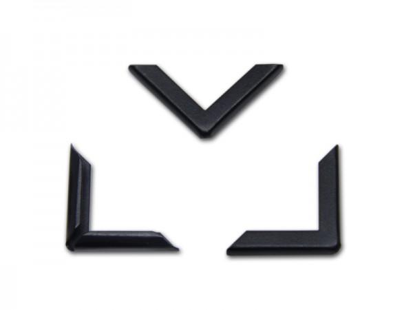 Buchecken, schwarz, 22 x 22 mm, Fassung 3,5 mm